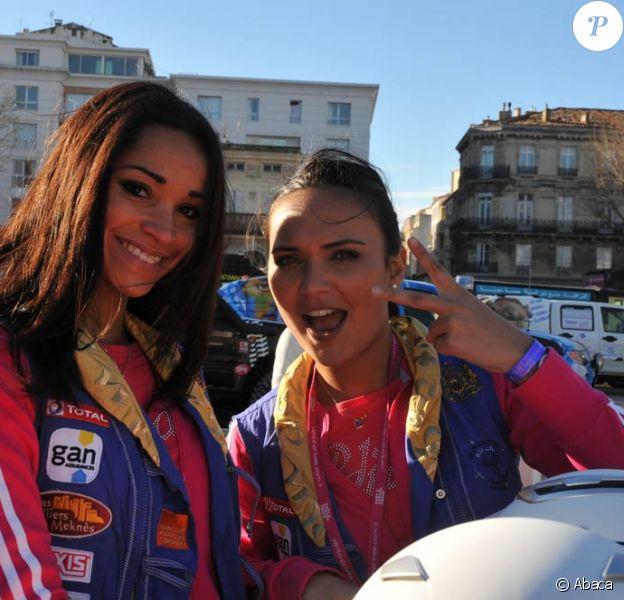 Cindy Fabre et Valérie Bègue lors du coup d'envoi du Rallye des Gazelles 2011, le 19 mars 2011, à Sète.
