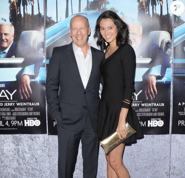 Bruce Willis et sa femme Emma Heming à la première de His Way à Los Angeles, le 22 mars 2011