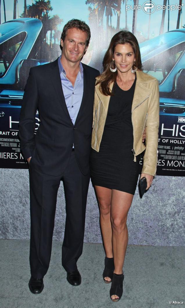 Rande Gerber et sa femme Cindy Crawford à la première du documentaire His Way, à Los Angeles le 22 mars 2011