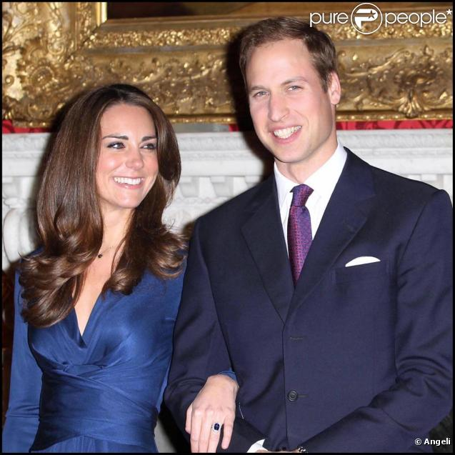 Le Prince William et Kate Middleton lors de l'annonce de leurs fiançailles, le 16 novembre 2010.
