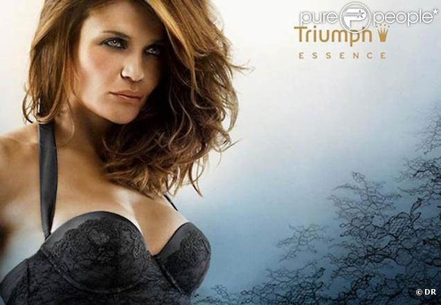 Helena Christensen pour la collection Triumph printemps/été 2011.