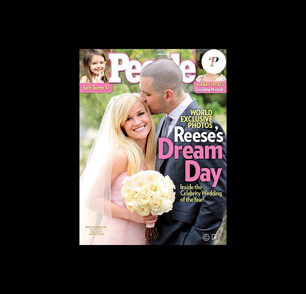 Reese Witherspoon en couverture du magazine People pose avec son nouvel époux, Jim Toth