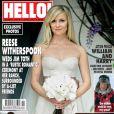 Reese Witherspoon en couverture de Hello pour son mariage avec Jim Toth