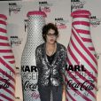 Dani lors du lancement Coca Cola Light pour célébrer les bouteilles imaginées par Karl Lagerfeld. Le 7 avril à Paris