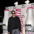 JoeyStarr lors du lancement Coca Cola Light pour célébrer les bouteilles imaginées par Karl Lagerfeld. Le 7 avril à Paris