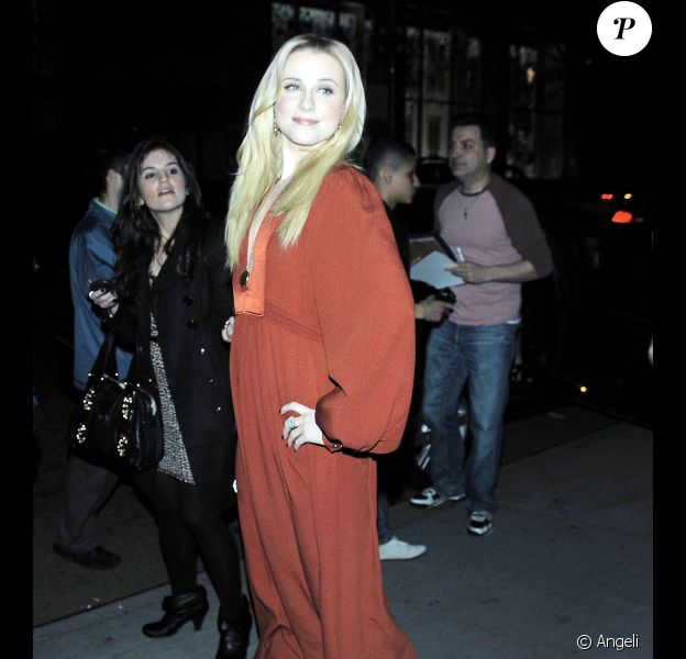 Evan Rachel Wood lors de l'avant-première du film The Conspirators à New York en avril 2011