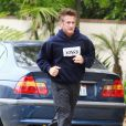 Sean Penn fait son jogging, le 17 avril 2011.