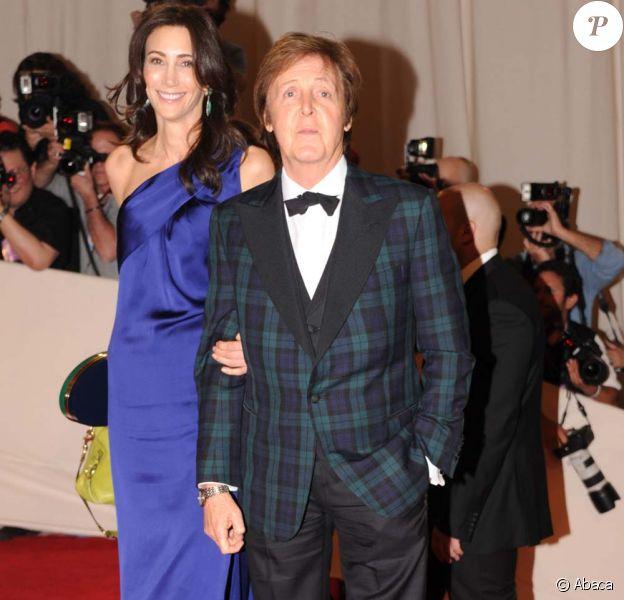 Paul McCartney et Nancy Shevell, inauguration de l'exposition Alexander McQueen, au Met à New York, le 2 mai 2011.