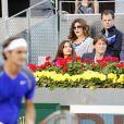 Mirka Federer aux Masters 1000 de Madrid, le 6 mai 2011, lors des quarts de finale qui opposent Federer à Soderling