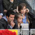 Luis Figo, sa femme Helen Svedin et leur fille Martina aux Masters 1000 de Madrid, le 6 mai 2011