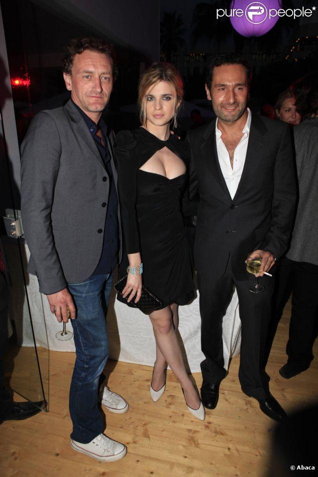 Jean-Paul Rouve, Cécile Cassel et Gilles Lellouche lors de la soirée des Audi Talents Awards au Audi Lounge à Cannes le 12 mai 2011