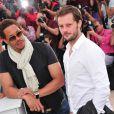 JoeyStarr et Nicolas Duvauchelle à l'occasion du photocall de  Polisse , présenté aujourd'hui au 64e Festival de Cannes, le 13 mai 2011.