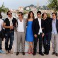 Nicolas Duvauchelle, JoeyStarr, Maïwenn et Jérémie Elkaïm à l'occasion du photocall de  Polisse , présenté aujourd'hui au 64e Festival de Cannes, le 13 mai 2011.