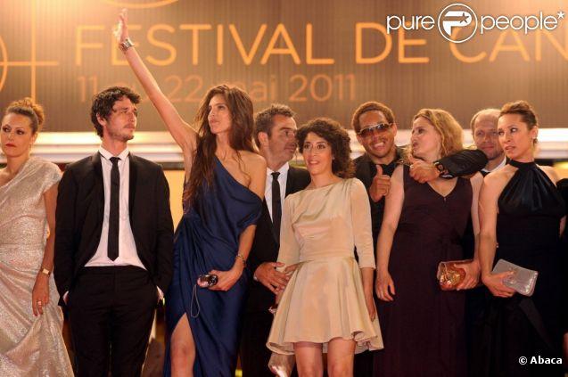 Maïwenn et JoeyStarr lors de la montée des marches de  Polisse , lors du 64e Festival de Cannes, le 13 mai 2011.