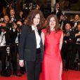 Valérie Donzelli avec Valérie Lemercier sur le tapis rouge de Polisse