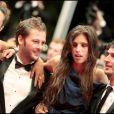 Karole Rocher, Nicolas Duvauchelle, Maïwenn et Jérémie Elkaim Maïwenn lors de la montée des marches du film Polisse lors du 64e Festival de Cannes le 13 mai 2011