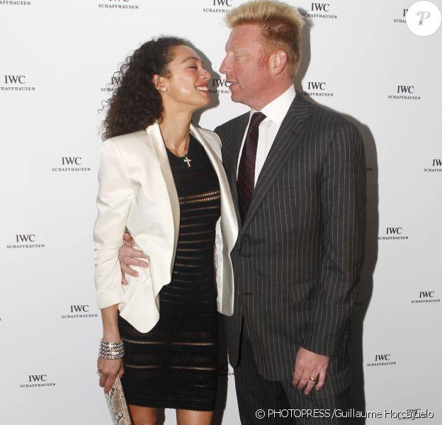 Lilly Kerssenberg et Boris Becker lors de la soirée organisée par IWC à Cannes le 15 mai 2011