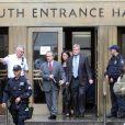Les avocats de DSK à la sortie du tribunal Benjamin Brafman et William Taylor