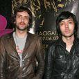 """""""Gaspard Augé et Xavier de Rosnay forment le duo Justice. Ici à Paris, le 14 mai 2007."""""""
