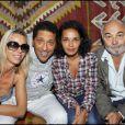 Sidonie Bellanger, Smaïn, Saïda Jawad et Gérard Jugnot au cours du voyage du Jasmin, en Tunisie le 8 mai 2011.