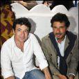 Patrick Bruel et Pascal Elbé au cours du voyage du Jasmin, en Tunisie le 8 mai 2011.