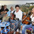 Paul et Michel Boujenah, Patrick Bruel et Félix Gray au cours du voyage du Jasmin, en Tunisie le 8 mai 2011.