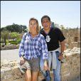 Sidonie Bellanger et Smaïn au cours du voyage du Jasmin, en Tunisie le 8 mai 2011.