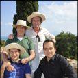 Zinedine Soualem, Michel Boujenah, Philippe Caroit au cours du voyage du Jasmin, en Tunisie le 8 mai 2011.