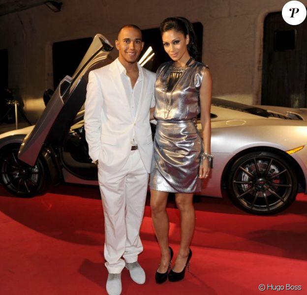 Lewis Hamilton et Nicole Scherzinger lors de la soirée Hugo Boss à la villa Key Largo à Monaco le 27 mai 2011