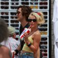 Julianne Hough et Diego Bonita sur le tournage de Rock of Ages le 23 mai 2011