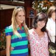 Lio et sa fille Nubia arrivent au tournoi de Roland-Garros, le 2 juin 2011.
