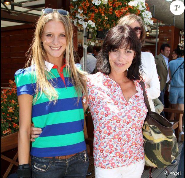 Lio et sa fille Nubia à Roland-Garros, le 2 juin 2011.