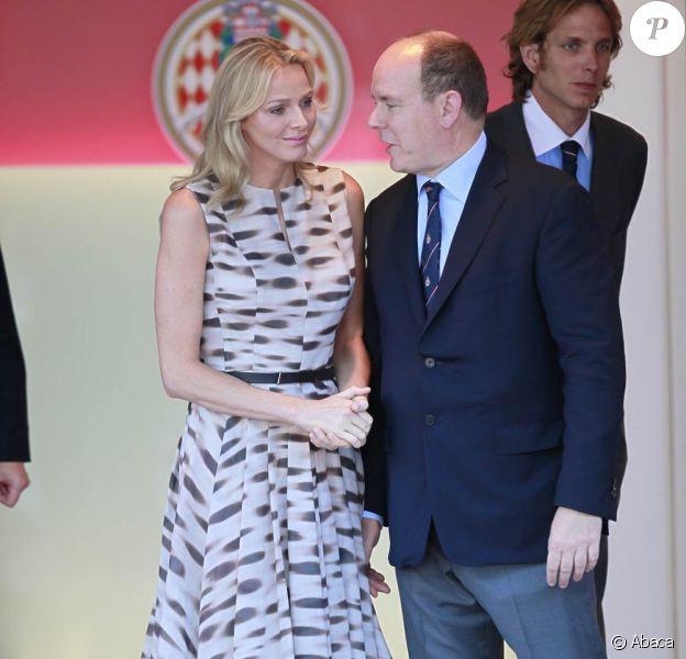 Charlene Wittstock et le prince Albert de Monaco lors du Grand Prix de Monte-Carlo, le 29 mai 2011.