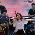Selena Gomez donne un concert pour ses fans à Santa Monica, le 13 juin 2011.