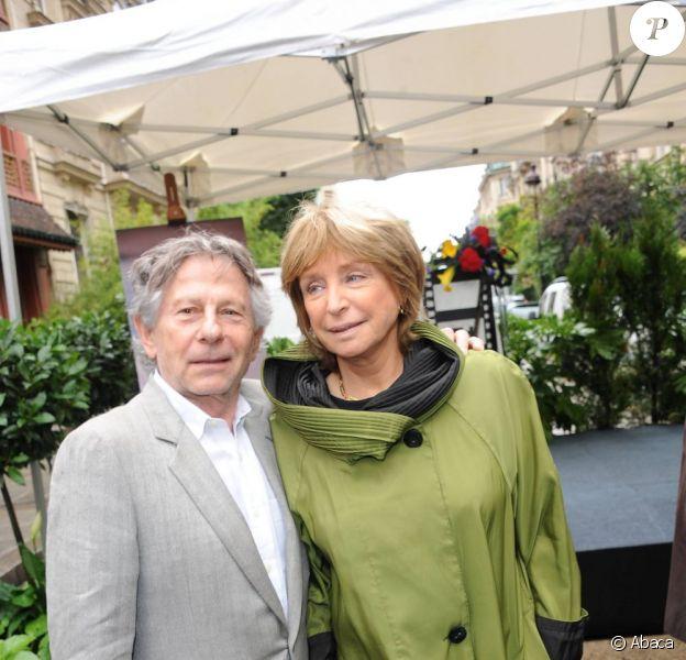 Roman Polanski et Danièle Thompson lors de l'inauguration de la Place Gérard Oury, dans le VIIIe arrondissement de Paris, le 22 juin 2011.
