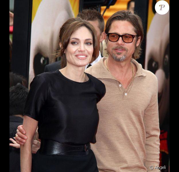 Angelina Jolie et Brad Pitt le 22 mai 2011