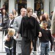 Angelina Jolie avec ses enfants Shiloh et Maddox lors de l'avant-première du film Kung Fu Panda 2 à Los Angeles le 22 mai 2011