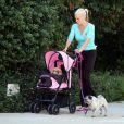 Peter Falk et son épouse Shera Danese étaient fous de leurs chiens qu'ils promenaient dans une poussette comme des enfants. A Los Angeles en 2006