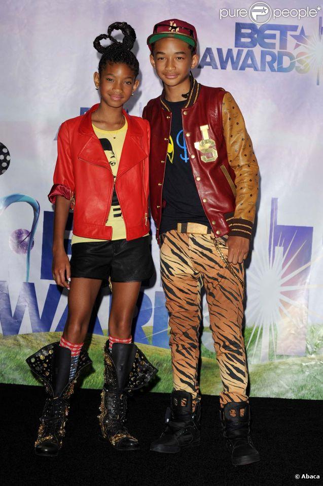 Cérémonie des Bet Awards, à Los Angeles, le 26 juin 2011 : Jaden et Willow Smith.