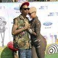 Cérémonie des Bet Awards, à Los Angeles, le 26 juin 2011 : Wiz Khalifa et Amber Rose.