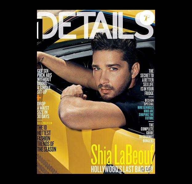 Shia LaBeouf en couverture de Details, juillet 2011.
