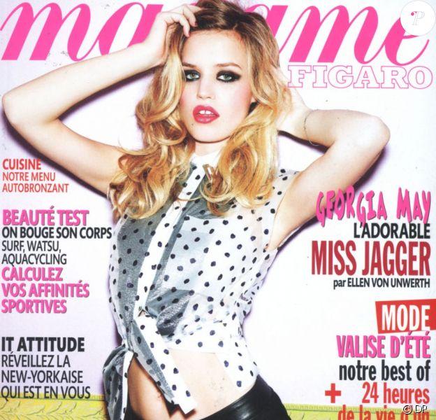 Georgia May Jagger en couverture de Madame Figaro