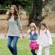 Denise Richards accompagnée de ses filles Sam et Lola