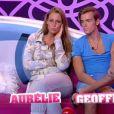 Aurélie et Geoffrey ne sont pas à l'aise dans leur rôle de faux couple (quotidienne  Secret Story 5  du samedi 9 juillet 2011).