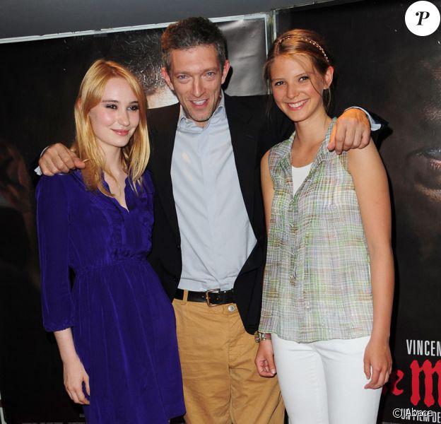 Déborah François, Vincent Cassel et Joséphie Japy lors de l'avant-première du film Le Moine à Paris le 12 juillet 2011