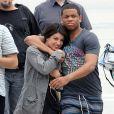 Shenae Grimes et Tristan Wilds sur le tournage de la saison 4 de  90210 , à Los Angles, le 12 juillet 2011.