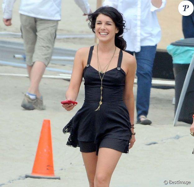 Shenae Grimes sur le tournage de la saison 4 de 90210, à Los Angles, le 12 juillet 2011.