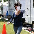 Rachel Bilson : après la séance coiffure sur le tournage du film The to do list à Woodland Hills le 13 juillet 2011