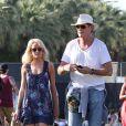 Hayley et David, amoureux, au festival de Coachella, en Californie, le samedi 16 avril 2011.