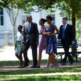 La famille Obama s'est rendue à la messe du dimanche à Washington, plus unie que jamais.